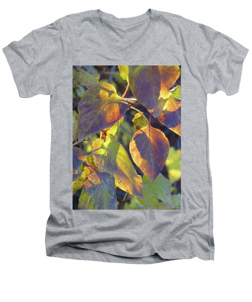 Lilac Leaves Men's V-Neck T-Shirt
