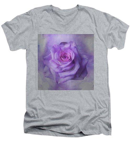 Lilac Purple Rose Men's V-Neck T-Shirt