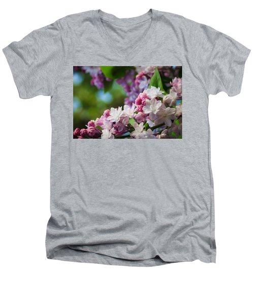 Lilacs Of Spring Men's V-Neck T-Shirt