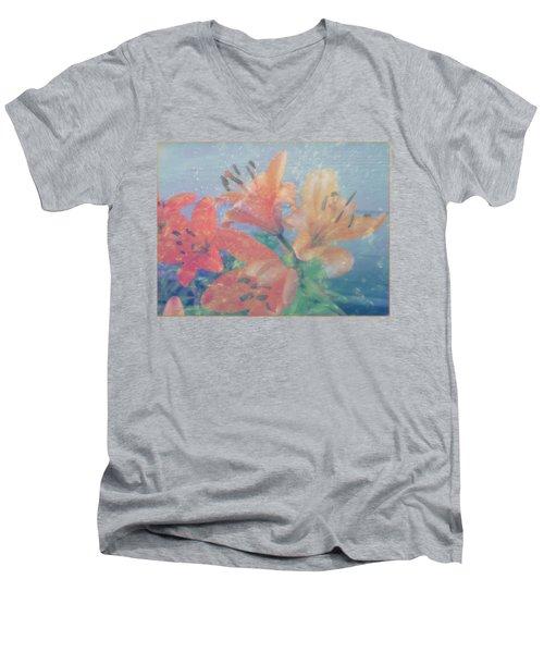 Lilies #1 Men's V-Neck T-Shirt