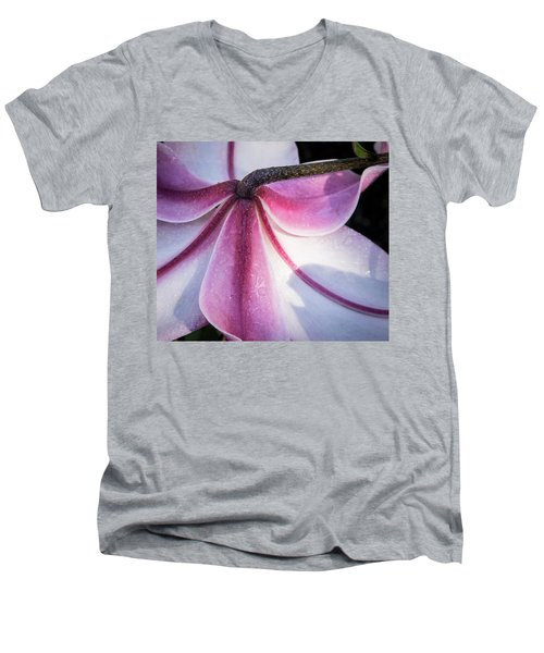 Men's V-Neck T-Shirt featuring the photograph Lilies Backside by Jean Noren