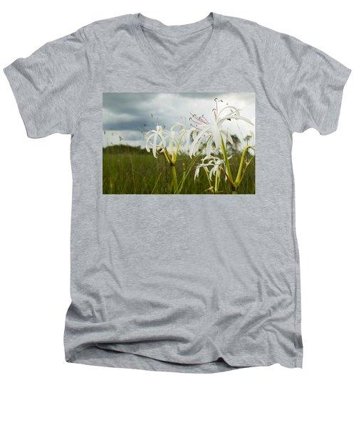 Lilies Thunder Men's V-Neck T-Shirt