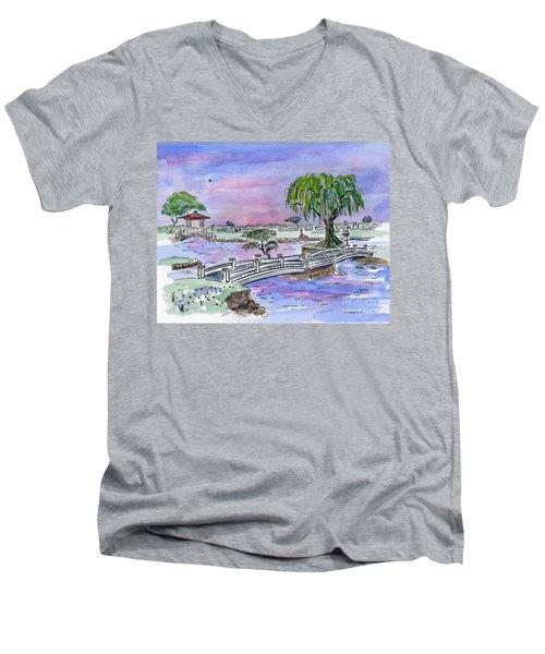 Liliuokalani Park Hilo Hawaii Men's V-Neck T-Shirt