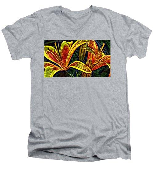 Lilly Fire Men's V-Neck T-Shirt