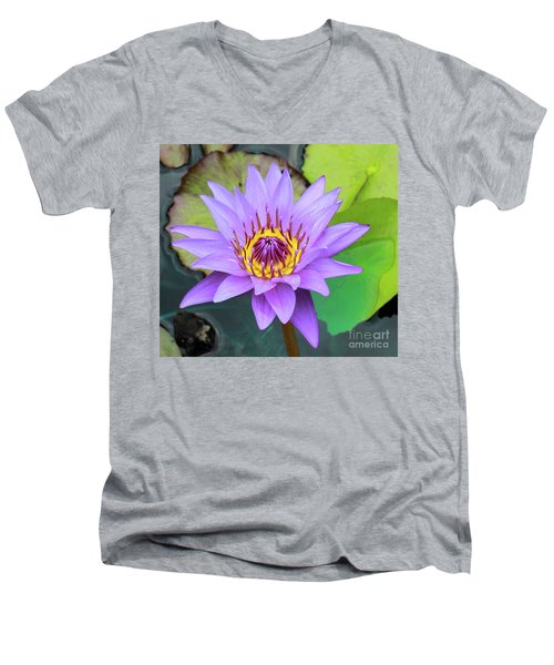 Lilly In Purple  Men's V-Neck T-Shirt