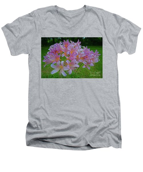 Lily Lavender Men's V-Neck T-Shirt