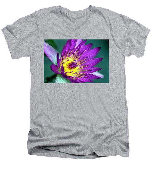 Lily On The Water Men's V-Neck T-Shirt