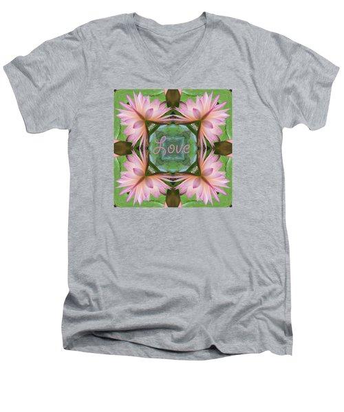 Lily Pad Love Men's V-Neck T-Shirt