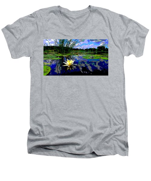 Lily Pond Men's V-Neck T-Shirt