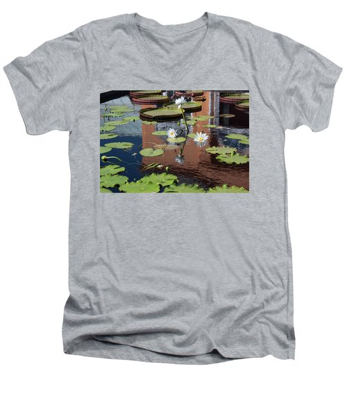 Lily Pond Reflections Men's V-Neck T-Shirt