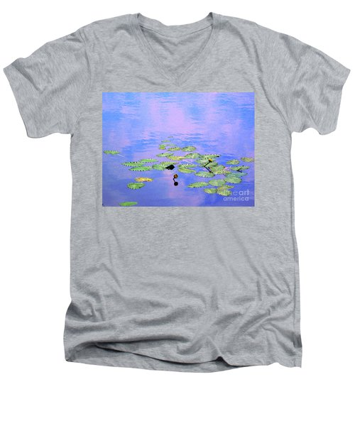 Laying Low Like A Lily Pond  Men's V-Neck T-Shirt