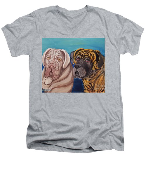 Lily Rose Maggie Moo Men's V-Neck T-Shirt by Ania M Milo