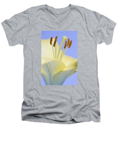 Lily Stamens  Men's V-Neck T-Shirt