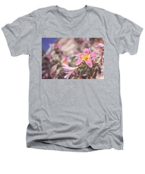 Men's V-Neck T-Shirt featuring the photograph Lily Tree. Flowers Of Malaga by Jenny Rainbow