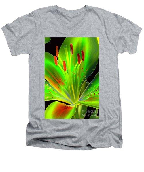 Lime Twist Men's V-Neck T-Shirt