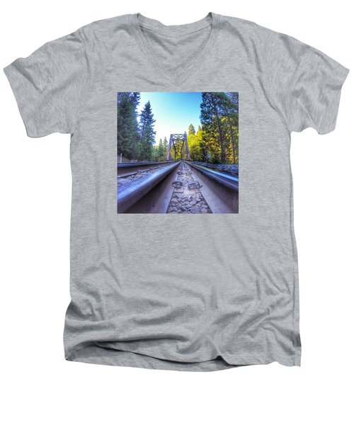 Limitless Men's V-Neck T-Shirt by Alpha Wanderlust