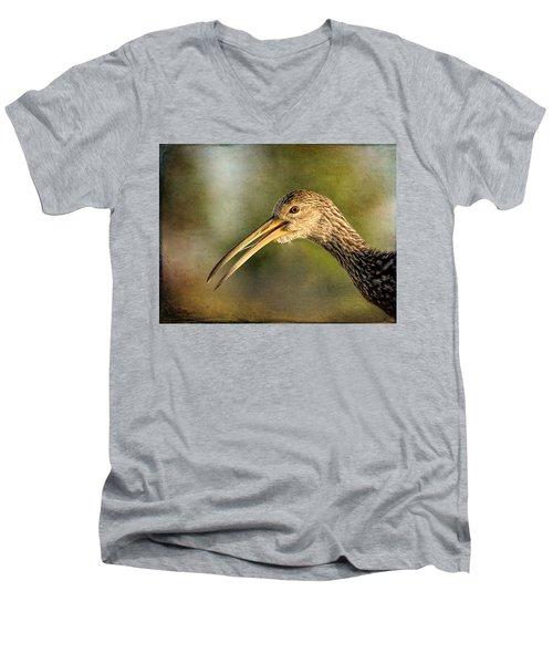 Limpkin 1 Men's V-Neck T-Shirt