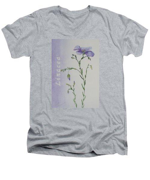 Linacea Men's V-Neck T-Shirt by Ruth Kamenev