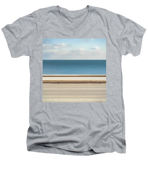 Lincoln Memorial Drive Men's V-Neck T-Shirt by Scott Norris