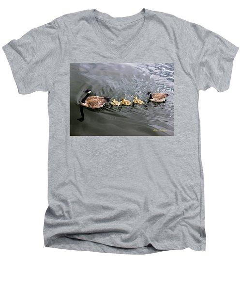 Line Astern Signed Men's V-Neck T-Shirt