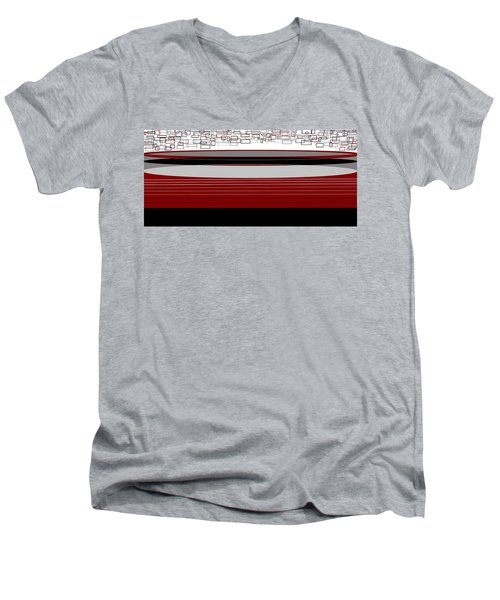 Lines 3 Men's V-Neck T-Shirt