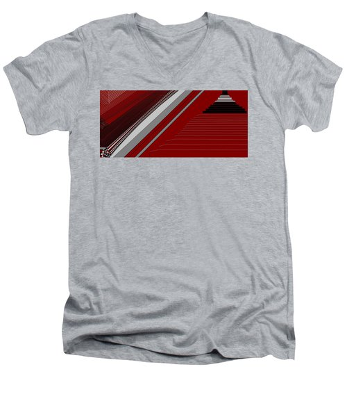 Lines 50 Men's V-Neck T-Shirt