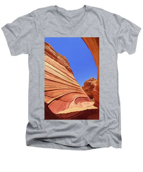 Men's V-Neck T-Shirt featuring the photograph Lines by Chad Dutson