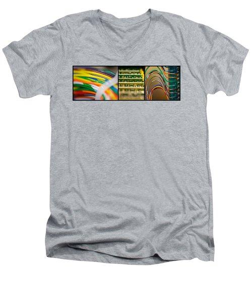 Lines Of Communication Men's V-Neck T-Shirt