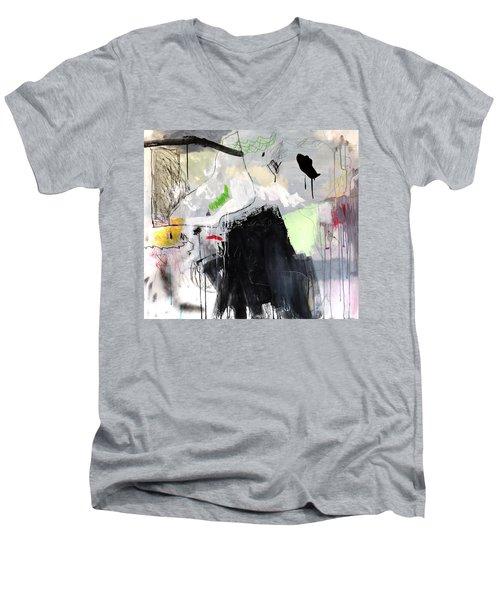 L'insaisissable-2 Men's V-Neck T-Shirt