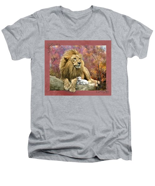 Lion And The Lamb Men's V-Neck T-Shirt