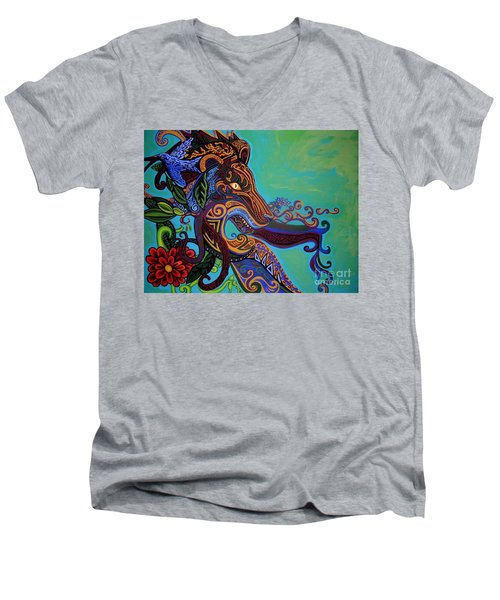Lion Gargoyle Men's V-Neck T-Shirt