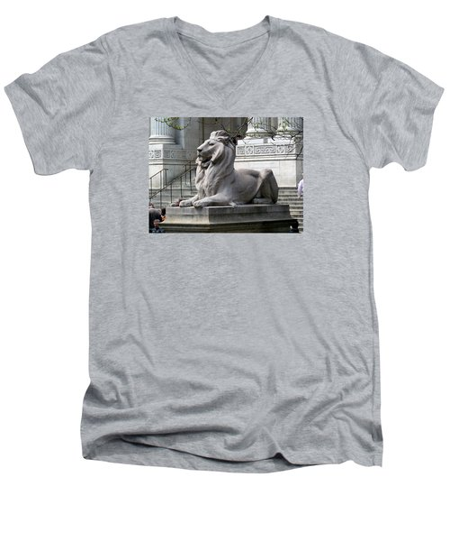 Lion Guards Literature Men's V-Neck T-Shirt by Helen Haw