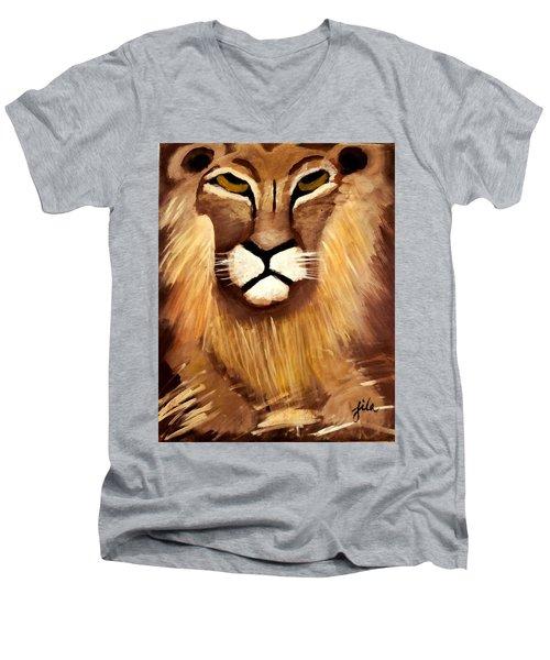 Lion Of Judah Men's V-Neck T-Shirt