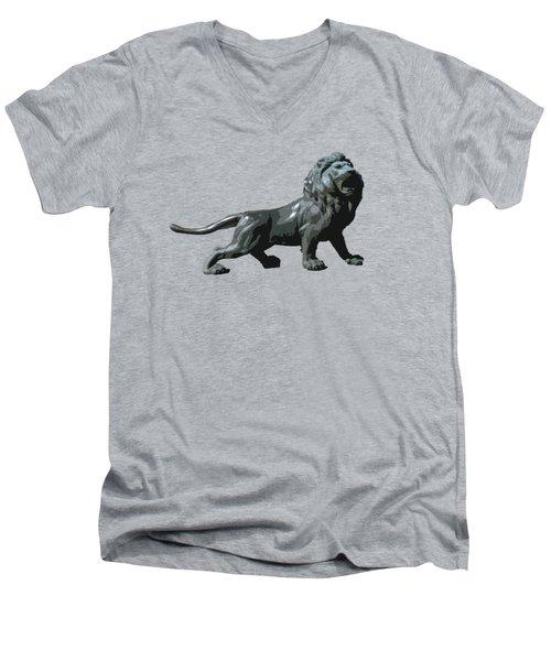 Lion Roar Men's V-Neck T-Shirt