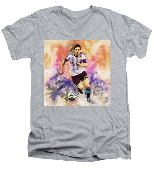 Lionel Messi 094c Men's V-Neck T-Shirt
