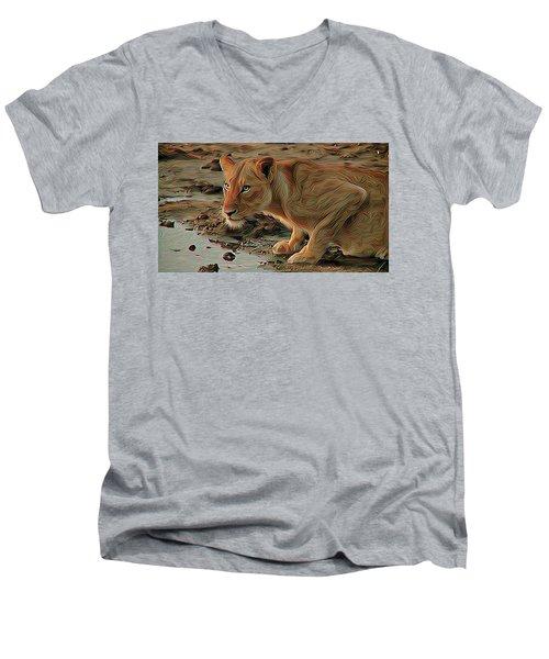 Lioness Men's V-Neck T-Shirt