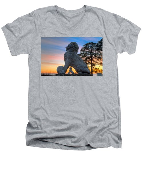 Lions Bridge At Sunset Men's V-Neck T-Shirt