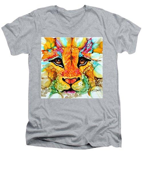 Lion's Head Gold Men's V-Neck T-Shirt
