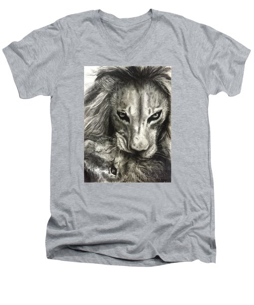 Lion's World Men's V-Neck T-Shirt