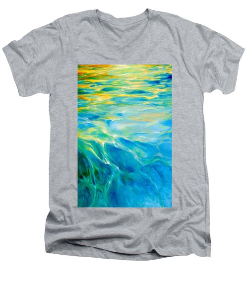 Liquid Gold Men's V-Neck T-Shirt by Dina Dargo