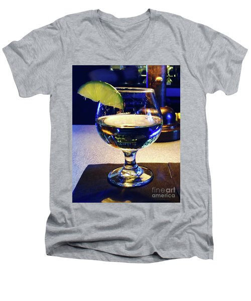 Liquid Sunshine Men's V-Neck T-Shirt by Megan Cohen