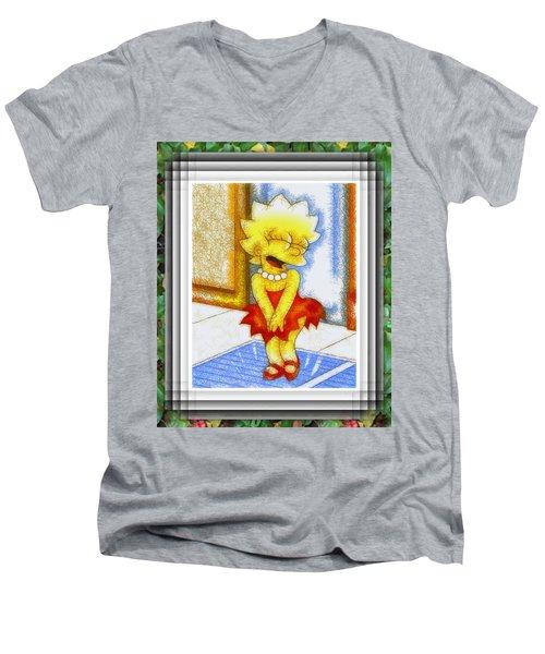 Lisa Does The Monroe Men's V-Neck T-Shirt