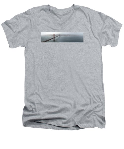 Lisbon On A Foggy Day Men's V-Neck T-Shirt