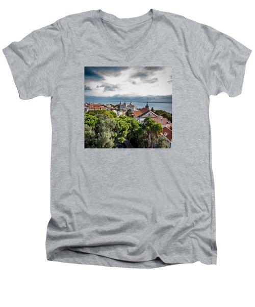 Lisbon Overlook Men's V-Neck T-Shirt