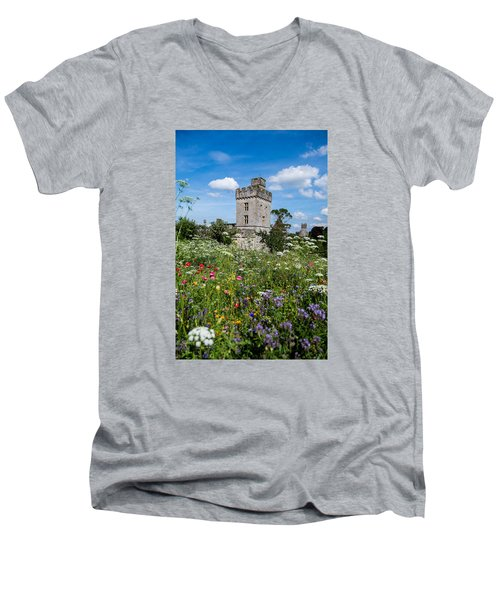 Lismore Castle Gardens Men's V-Neck T-Shirt by Martina Fagan
