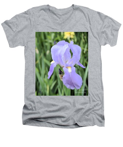 Lissy Iris Men's V-Neck T-Shirt by Marsha Heiken