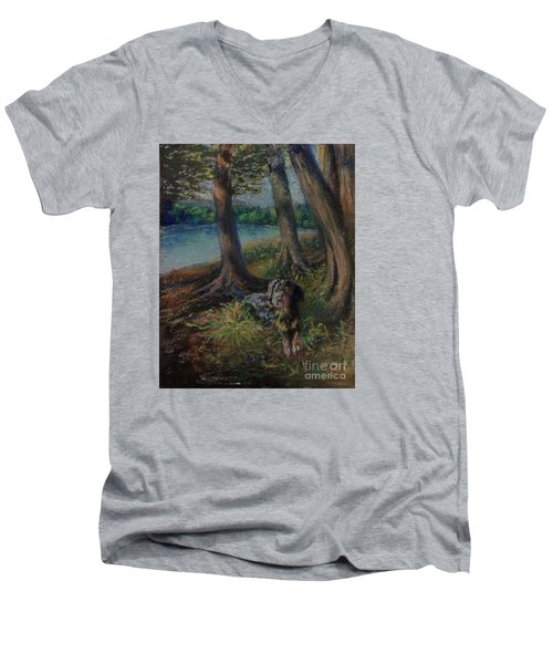 Listening To The Tales Of The Trees Men's V-Neck T-Shirt