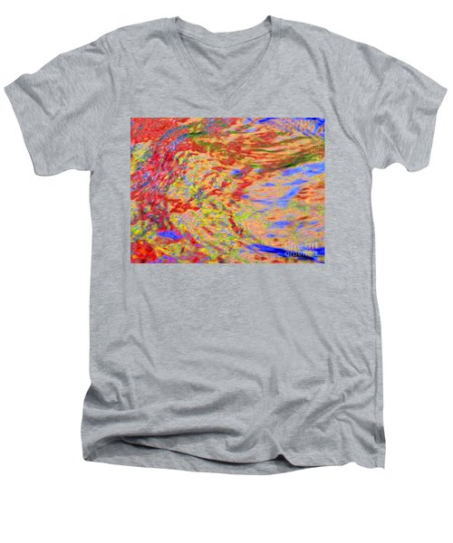 Listening To The Water Men's V-Neck T-Shirt