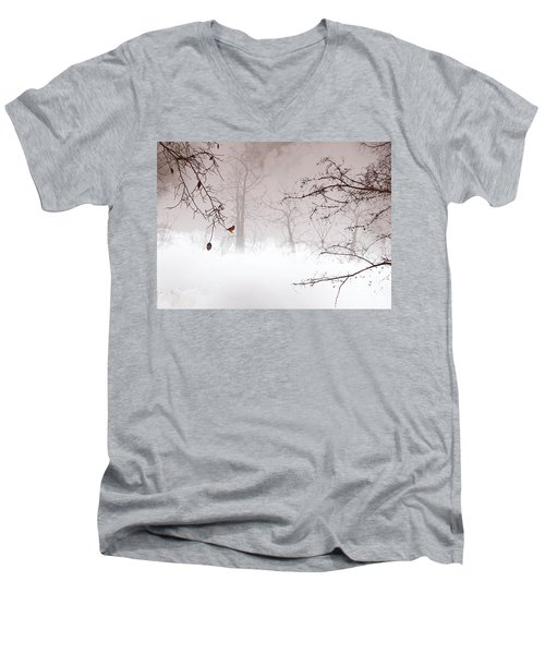 Listening Men's V-Neck T-Shirt by Trilby Cole