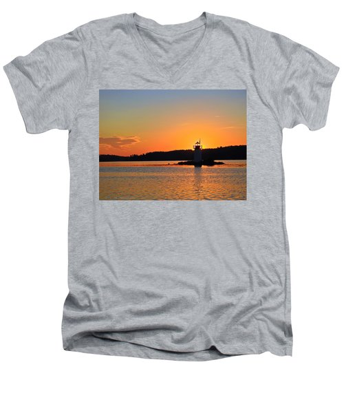 Lit By The Sun Men's V-Neck T-Shirt